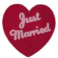 cadre paillasson interieur paillasson coeur just married un cadeau romantique