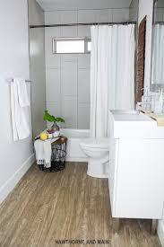 Pecan Laminate Flooring The Suite Pecan Bathroom Update And Moen Fixtures