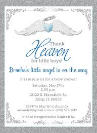 thank heaven for boys baby shower invitations unique