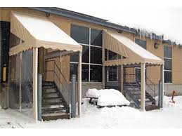 ombrasole awnings cover the entrance of your home or commerce