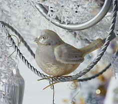 set of 8 mercury glass bird ornaments with clip by valerie bird