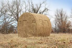 How To Make A Hay Bail Blind Redneck Hunters Choice Bale Blind Rogers Sporting Goods