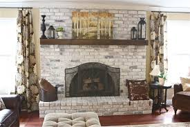 extraordinary whitewash brick fireplace twuzzer