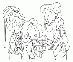 coloring pages jesus feeds 5000 coloring home