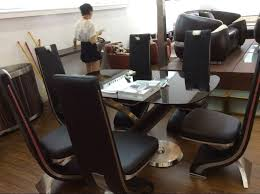 luxury design long back genuine leather dining chair in chairs ideas 14
