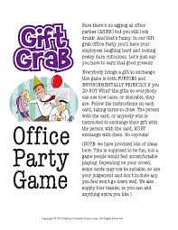 office christmas party gift exchange gift grab printable game
