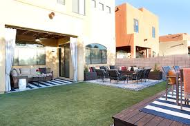 Desert Landscape Ideas For Backyards Low Maintenance Backyard Design Ideas The Home Depot
