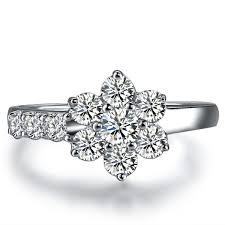engagement rings flower design 0 5carat big flower design engagement gvbori 18k white