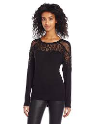 sleeve lace blouse guess s sleeve caroline mixed lace top at amazon