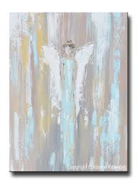painting home original art abstract angel painting