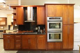 Double Wall Oven Cabinet Cabinets U0026 Drawer Inspiring Ideas Honey Maple Kitchen Cabinets