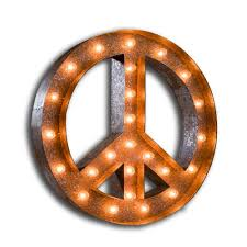 letter light peace sign the vintage industrial