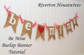valentines banner be mine burlap banner s day