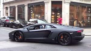 loud arab matte black aventador from millionaire boy racers