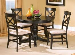 Black Wood Dining Room Set Dining Tables Interesting Small Circular Dining Table And Chairs