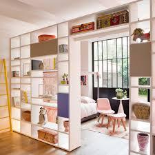 diviser une chambre en deux enchanteur idée pour séparer une chambre en deux et cloison amovible