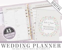 ultimate wedding planner a5 ultimate wedding planner organizer kit instant