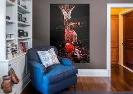 michael jordan mural wall decal shop fathead for chicago bulls michael jordan fathead wall mural