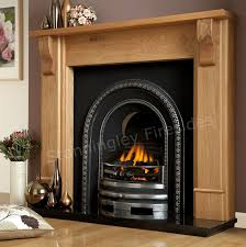 bedford arched oak fireplace package stanningley firesides