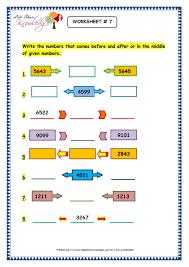 grade 3 maths worksheets 4 digit numbers 1 9 before predecessor