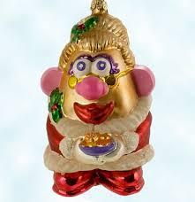 mrs potato head santa christopher radko christmas ornaments