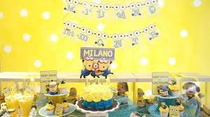 in party supplies minions birthday party decorations items and supplies used in this