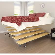 metal platform bed frame in store wood platform bed frame king