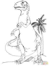 allosaurus dinosaur coloring page free printable coloring pages