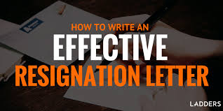 how to write an effective resignation letter ladders
