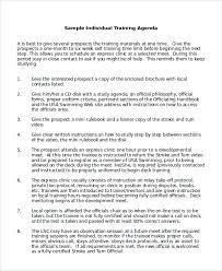Certification Letter For Grammarian Sample Training Agenda 6 Sample Of Agenda Portfolio Covers