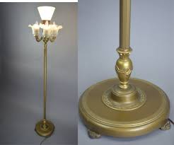 vintage 1920 u0027s rembrandt art deco 4 light mogul floor lamp by