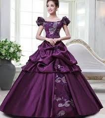 100 real purple golden floral medieval renaissance gown queen