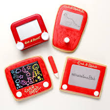 classic etch a sketch cookie time lapse video tutorial