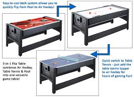 3 in one pool table 6 ft 3 in 1 flip game table