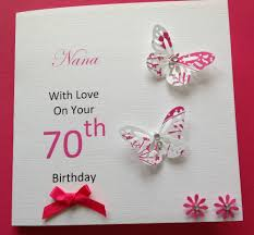 handmade personalised birthday card mum grandma nana sister 50th