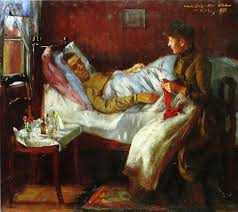 sick bed franz heinrich corinth on his sickbed painting lovis corinth