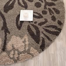 dark brown shag floral designed shags safavieh com
