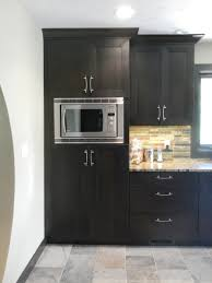 Black Kitchen Design Ideas Home Accessories Small Kitchen Island With Modern Microwave