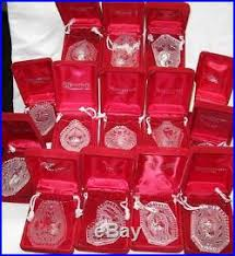 14 waterford 12 days of ornaments set mint 1982