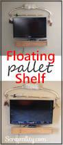 floating pallet tv shelf