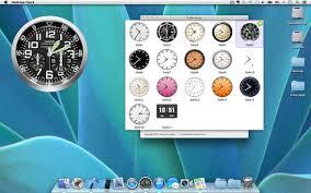 mettre une horloge sur le bureau horloge de bureau fond d écran dock d horloge dans le mac app store
