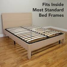 How To Make A Platform Bed Frame With Drawers by Amazon Com Classic Brands Europa Wood Slat And Metal Platform Bed
