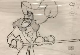 captain hook original production drawing from return to neverland