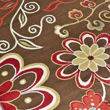 4 X 8 Area Rugs Delectably Yours Com City Laura Chocolate Floral Area Rug Collection