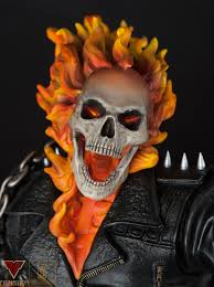 xm studios ghost rider statue review blog