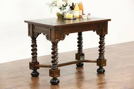 wooden legs for kitchen islands sold antique oak library or console table kitchen