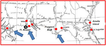 Amelia Island Map Apalachicola Bay And The War Of 1812 News The Times