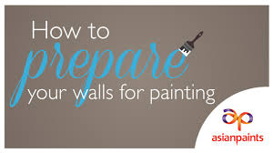 how to prepare your walls for painting youtube