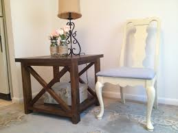 ana white rustic x end tables diy projects