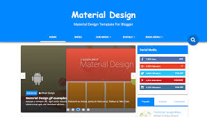material blogger template free download